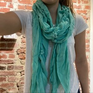 Anthropologie Teal Scarf